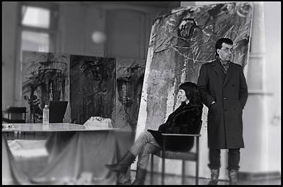 Painting - Studio Visit 1983 by Charles Stuart