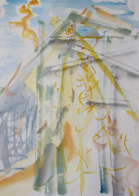 Painting - Studio With Kayoko Bird by Asha Carolyn Young