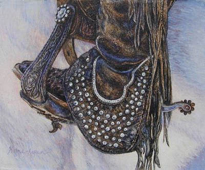 Painting - Studs Spurs And Worn Leather by Denise Horne-Kaplan