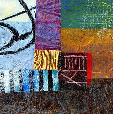 British Abstract Art Painting - Gathering by Shuya Cheng