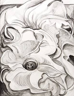 Wall Art - Drawing - Study After Georgia O'keeffe by Kerrie B Wrye