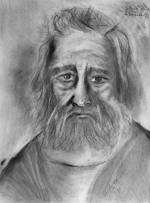 Drawing - Study After Rembrandt  by Kenneth Agnello