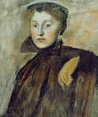 Degas Painting - Study For A Portrait Of A Lady by Edgar Degas