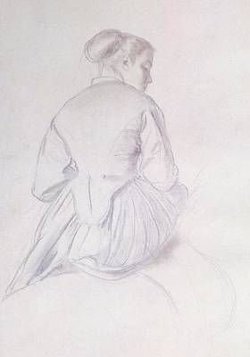 Preparatory Study Drawing - Study For An Amazon by Edgar Degas