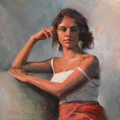 Portrait Art Painting - Study For California Beauty by Anna Rose Bain