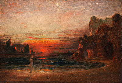 Painting - Study For Calypso's Grotto by Francis Danby