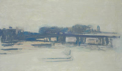 Impressionist Photograph - Study For Charing Cross Bridge, 1899-1901 Oil On Canvas by Claude Monet