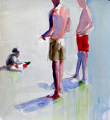 Wet On Wet Painting - Study For Grandfathers by Daniel Clarke
