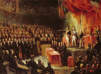 Study For King Louis-philippe 1773-1850 Swearing His Oath To The Chamber Of Deputies, 9th August Print by Ary Scheffer