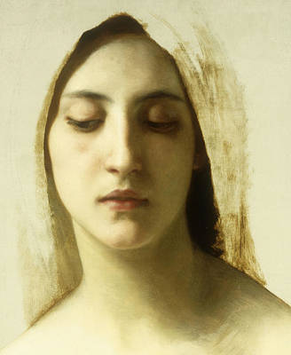 Contemplating Painting - Study For La Charite by William-Adolphe Bouguereau