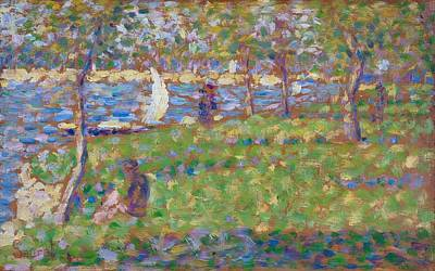 Grande Painting - Study For La Grande Jatte by Georges Seurat