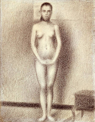 Drawing - Study For Les Poseuses by Georges Seurat