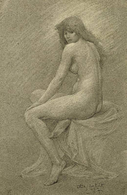 Female Nude Drawing - Study For Lilith by Robert Fowler