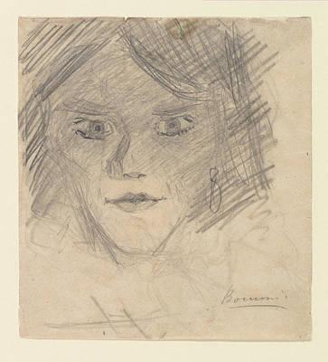 Umberto Boccioni Drawing - Study For Modern Idol by Umberto Boccioni