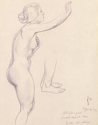 Study For Perseus And Andromeda Art Print by Felix Edouard Vallotton