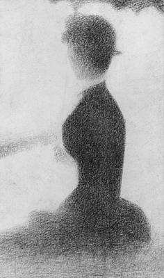 Jatte Drawing - Study For Sunday Afternoon On The Island Of La Grande Jatte by Georges Pierre Seurat