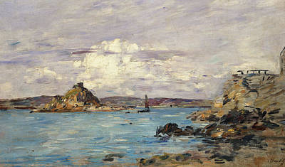 Cloudy Day Painting - Study For The Bay Of Douarnenez by Eugene Boudin