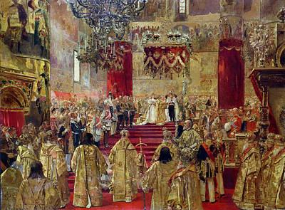 Study For The Coronation Of Tsar Nicholas II 1868-1918 And Tsarina Alexandra 1872-1918 Art Print by Henri Gervex