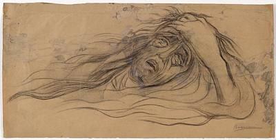 Umberto Boccioni Drawing - Study For The Dream - Paolo by Umberto Boccioni