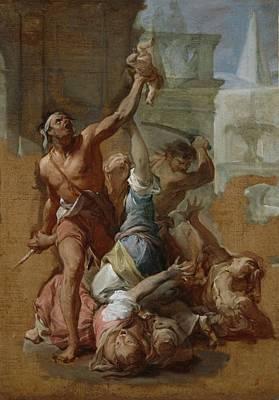 Study For The Massacre Art Print by Francesco Trevisani