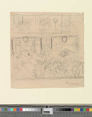 Umberto Drawing - Study For The Riot by Umberto Boccioni