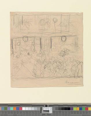 Umberto Boccioni Drawing - Study For The Riot by Umberto Boccioni