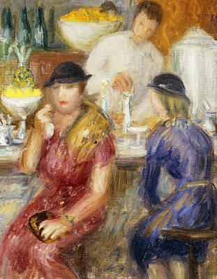 Seating Painting - Study For The Soda Fountain by William James Glackens