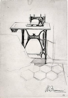 Umberto Boccioni Drawing - Study For The Story Of A Seamstress by Umberto Boccioni