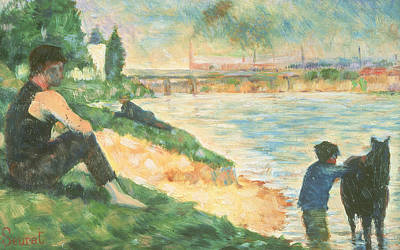 Waterside Painting - Study For Une Baignade by Georges Pierre Seurat