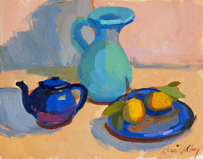 Painting - Study In Blue by Diane McClary