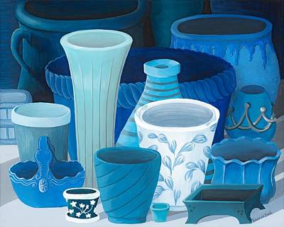 Limited Edition Painting - Study In Blue by Katherine Young-Beck