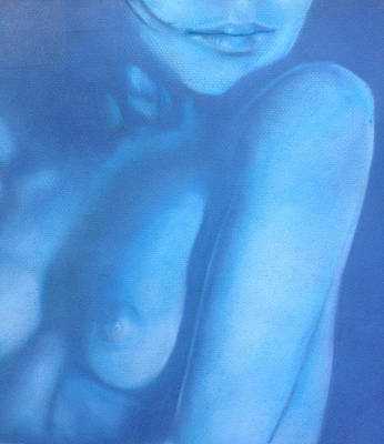 Painting - Study In Blue by Neil Kinsey Fagan