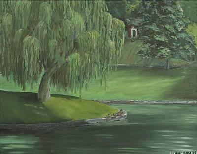 Susan Richardson Painting - Study In Green by Susan Richardson