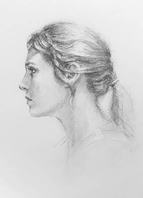 Study In Profile Art Print by Sarah Parks