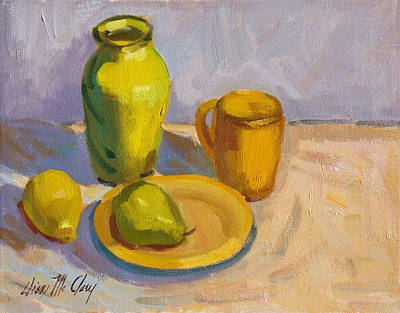 Painting - Study In Yellow by Diane McClary