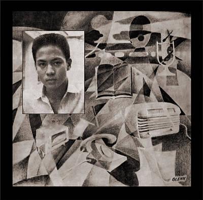 Painting - Study - Mass Communication by Glenn Bautista