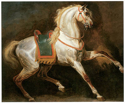 Study Of A Horse Art Print by Emile-Jean-Horace Vernet