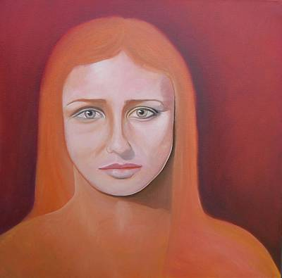 Fainting Spells Painting - Study Of A Hypnotic Gaze by Roger Medcalf