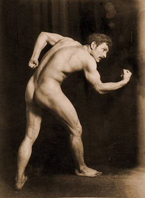 Nudes Photograph - Study Of A Male Nude by Wilhelm von Gloeden