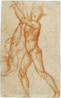 Partial Nude Drawing - Study Of A Nude Boy, Partial Figure Study Recto by Litz Collection