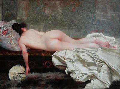 Study Of A Nude Digital Art - Study Of A Nude Woman by Rodolfo Amoedo