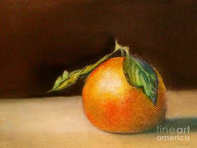 Study Of A Tangerine Art Print