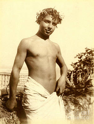 Nudes Photograph - Study Of A Young Boy In Naples by Wilhelm von Gloeden