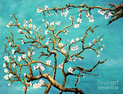 Art Print featuring the painting Study Of Almond Branches By Van Gogh by Donna Dixon