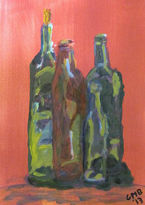 Nature Morte Painting - Study Of Bottles by Greg Mason Burns