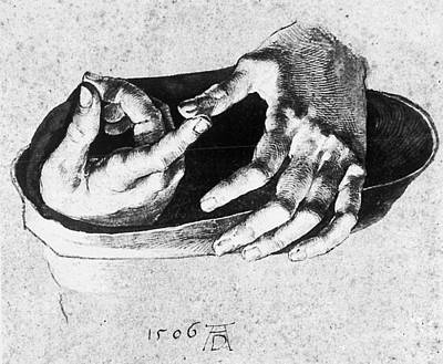 Wall Art - Drawing - Study Of Christ's Hands by Albrecht Durer