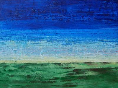 Art Print featuring the painting Study Of Earth And Sky by Linda Bailey