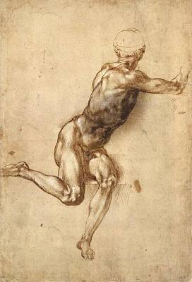 1505 Painting - Study Of Figure To Battle Of Cascina by Michelangelo Buonarroti