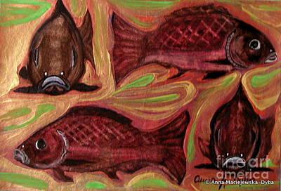 Study Of Fish Art Print by Anna Folkartanna Maciejewska-Dyba