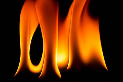 Photograph - Study Of Flames II by Patrick Boening